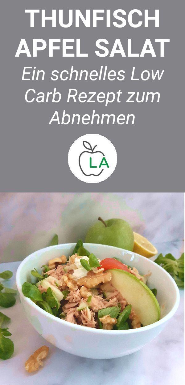 Ein köstlicher kohlenhydratarmer Salat mit Apfel, Thunfisch und Walnüssen. Dieses gesunde …   – Low Carb Rezepte