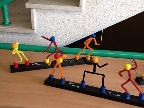 bonhomme cure-pipe Keith Haring © groupe Facebook Enseignantes des années 1 à 4 Harmos