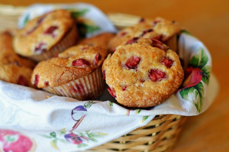 TESTED & PERFECTED RECIPE - Packed with sweet strawberries, these tender muffins with crisp, golden tops are perfect for a special breakfast or brunch.