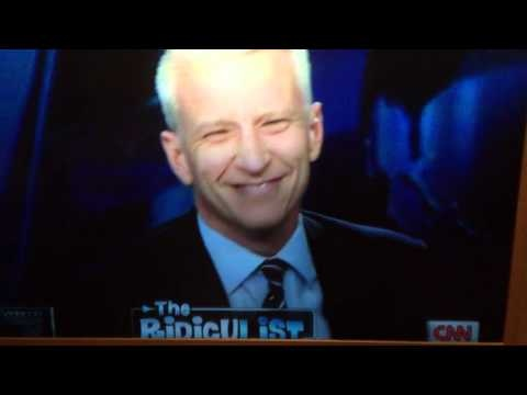Anderson Cooper laughing hysterically- Dyngus Day celebrati