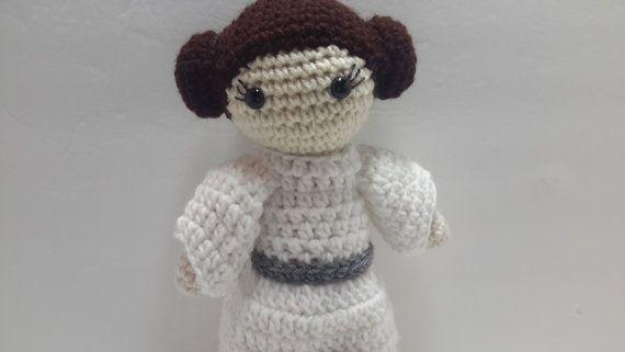 crochet princess Leia inspired doll by LeftysDesigns on Etsy