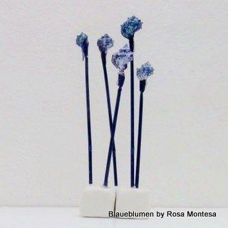 Blue sea shells and flowers Caracolas de mar azules y flores marinas Conchiglie di mare blu e fiori del mare  Projet for the BlaueBluemen Design101 Exhibition        #blaueblumen #design101- Projects for the Berlin Exhibition 25 26 April 2014
