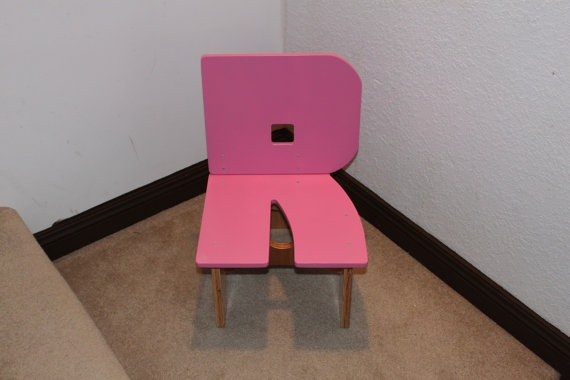 OMG these are soooo cute!!!  Letter R Chair by Kazzoinks on Etsy, $84.95