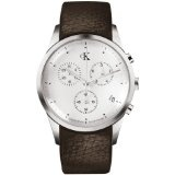 Calvin Klein Quartz, Brown Band White Dial - Men's Watch K2227120 (Watch)By Calvin Klein