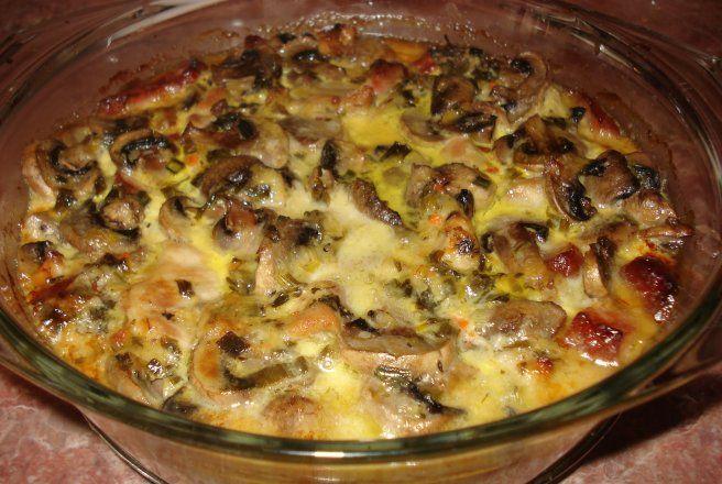 Retete Culinare - Piept de pui cu ciuperci