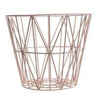 Wire kurv rose - 40x35 cm - Ferm Living