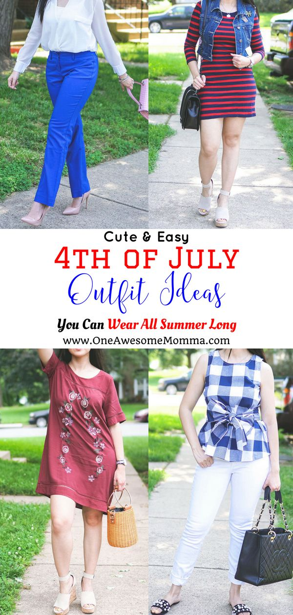 Looking for some 4th of July outfit for women? Check out these cute & easy 4th of July outfit ideas you can wear all Summer long! #4thofjuly #momfashion #momstyle #summerfashion #summerstyle | 4th of July style clothes | patriotic style | patriotic outfits for women | 4th of july clothes | 4th of july fashion | patriotic fashion | patriotic clothes