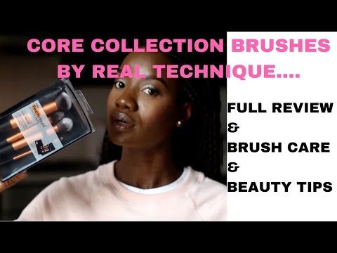 REAL TECHNIQUE CORE COLLECTION BRUSH SET (FULL REVIEW)   MOJINTOUCH - YouTube
