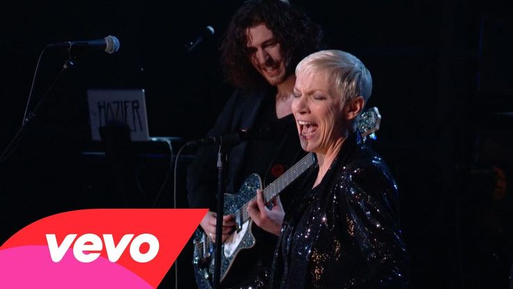 "Hozier and Annie Lennox perform ""Take Me To Church""/""I Put A Spell On You"" live at the 57th GRAMMY Awards on Feb. 8 in Los Angeles"