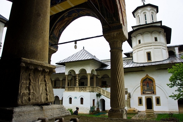 """Horezu Monastery was founded in 1690 by Prince Constantin Brâncoveanu in the town of Horezu, Wallachia, Romania. It is considered to be a masterpiece of """"Brâncovenesc style"""", known for its architectural purity and balance, the richness of its sculpted detail, its treatment of religious compositions, its votive portraits, and its painted decorative works."""