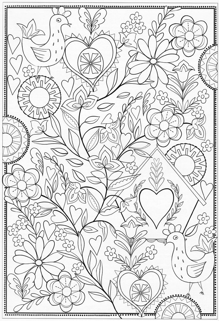 Scandinavian Coloring Book Pg 60