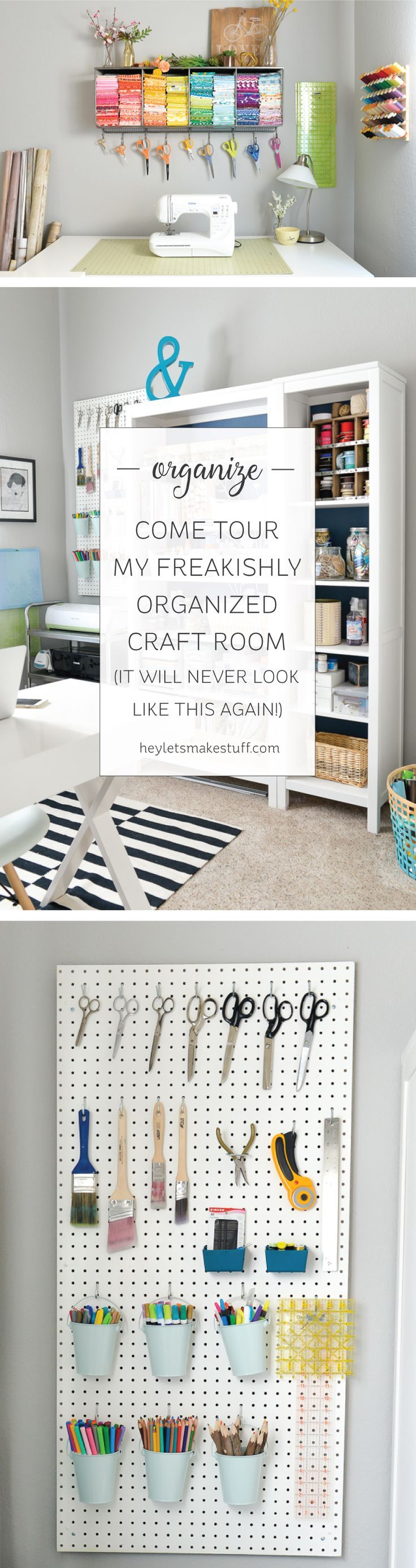 Scrapbook organization ideas - Come And Take A Tour Of My Craft Room I Love My Crafty Space