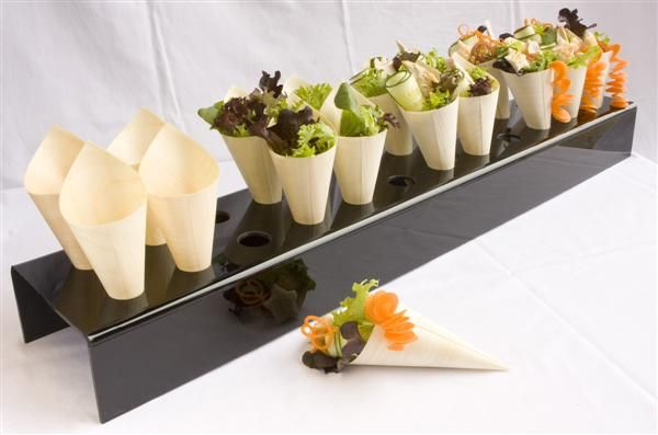 Paper cones for serving food cheap and easy serving for Canape holders