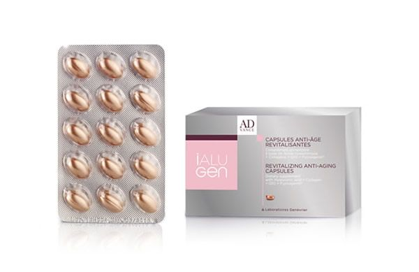 Firm, plump and hydrate ageing skin from the inside out with the new iAlugen Revitalizing Anti-Ageing Capsules - now available at Effortless Skin