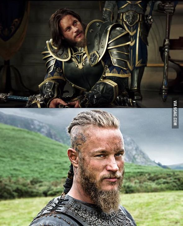When you realize that Ragnar Lothbrok from Vikings will be Anduin in the Warcraft movie! (Actor: Travis Fimmel)