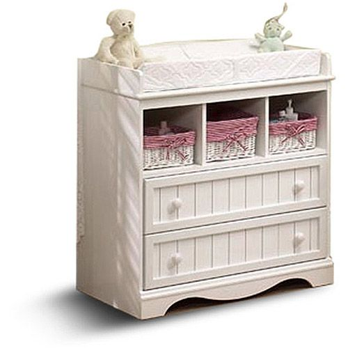 South shore savannah changing table multiple finishes Baby crib with changing table