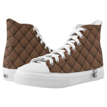 #Reddish brown pine straw needles photo High-Top sneakers - #womens #shoes #womensshoes #custom #cool
