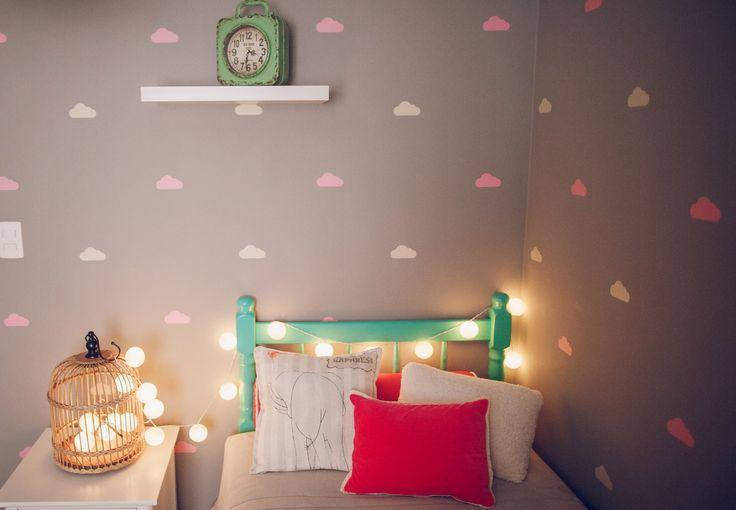 Girl Bedroom / Cloud Stickers http://renatamccartney.com.br/site/