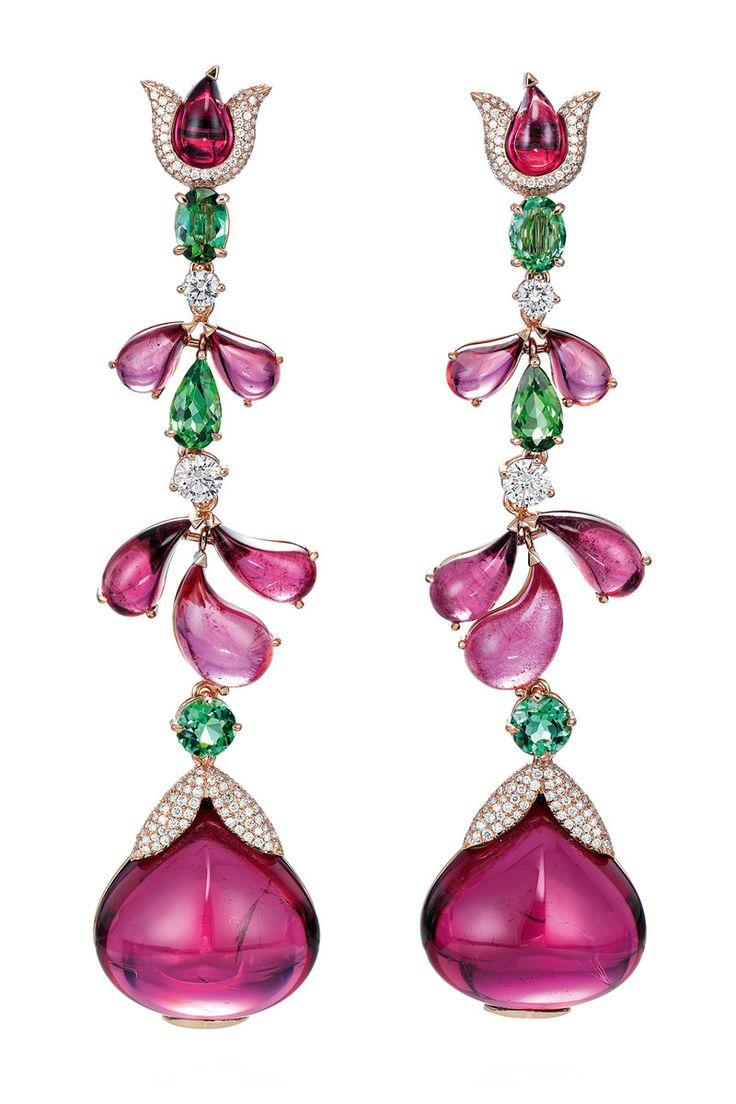 CHOPARD Pink Garden Earrings