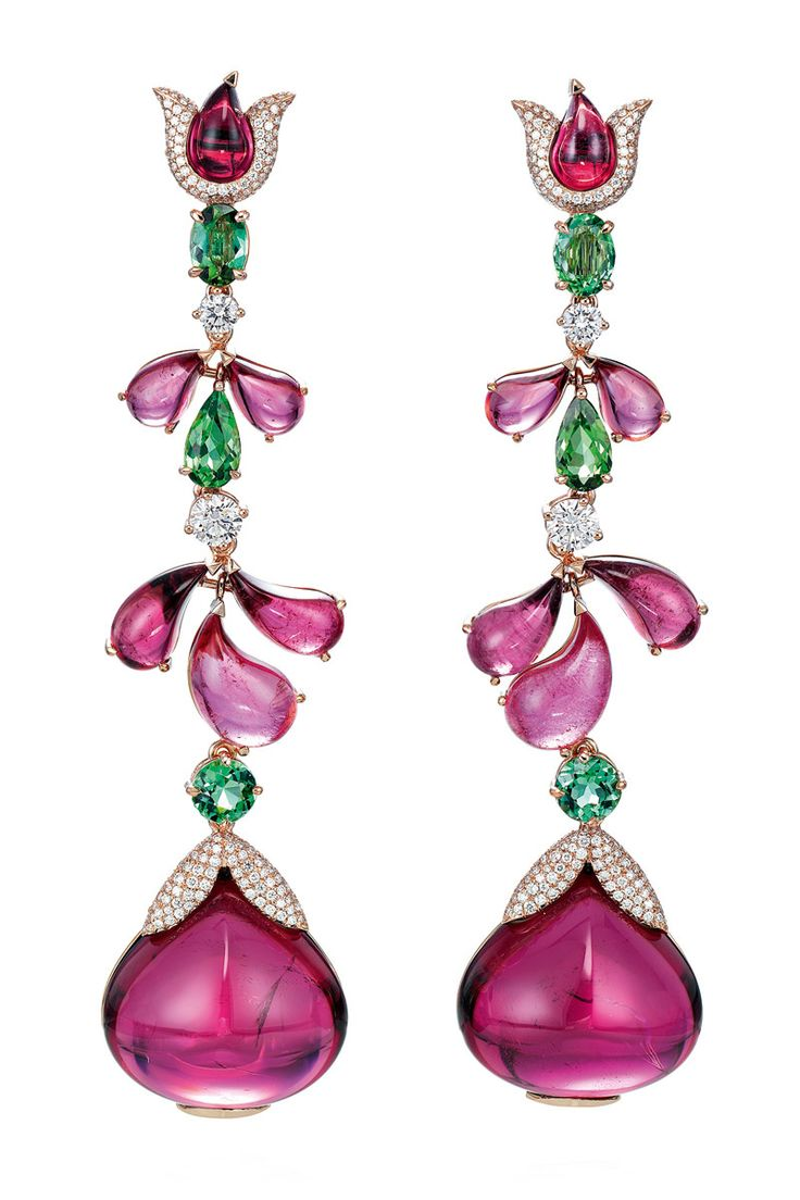 CHOPARD | Pink Garden Earrings  | Luxe Be A Lady
