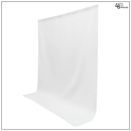 5x10' ft. White 100% Seamless Muslin Backdrop Machine Washable Background for Photo Video Lighting Set by Loadstone Studio WMLS0374