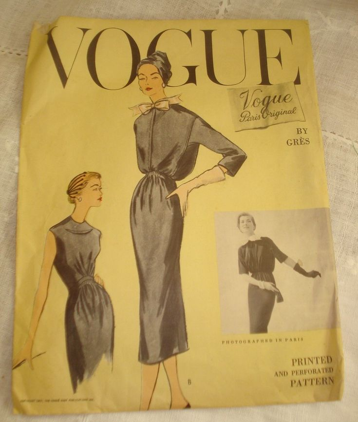 Vogue Paris Original 1378 by Grès | ca. 1957 one-piece dress and jacket
