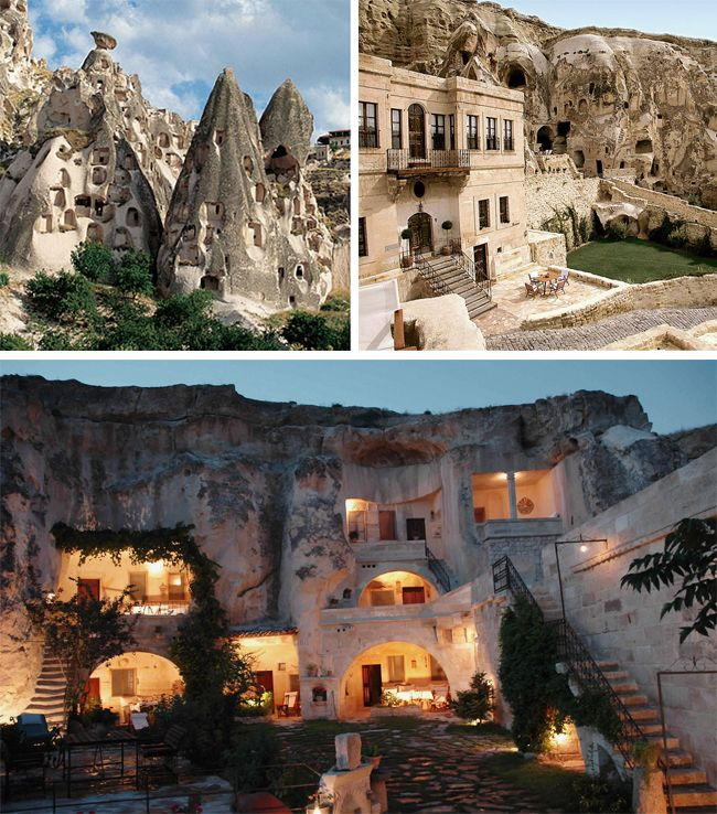Cappadocia, Turkey ... these are the cave hotels that I stayed in ... Ürgüp / Göreme are towns carved into the mountains