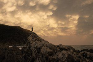 Angry sunset on the Transkei Coast.