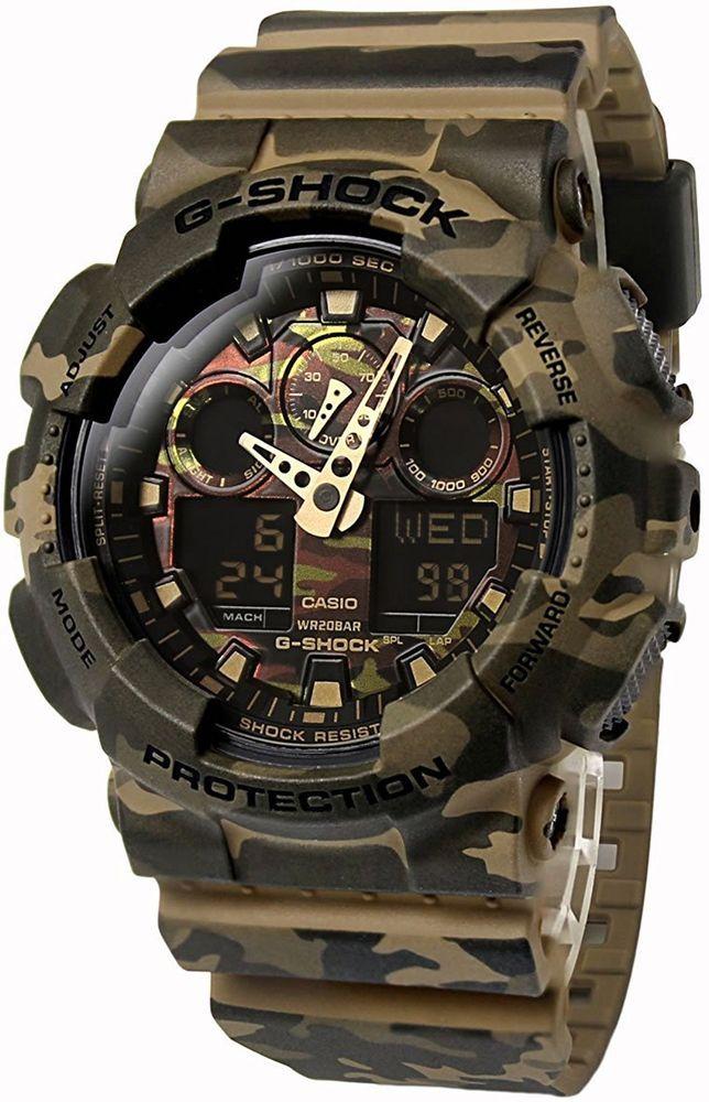 CASIO Auth Men's Wrist Watch G-SHOCK Camouflage GA-100CM-5A military WW2 Rare JP #CASIO #Military