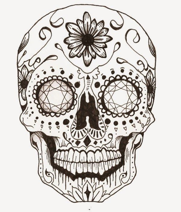 224 best sugar scull coloring images on pinterest sugar for Sugar skull mandala coloring pages