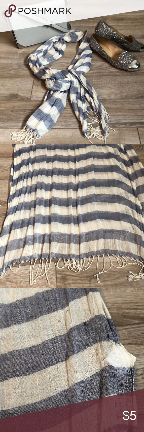 Payless sheer tassle scarf 63x30 some snags as shown. Still in great condition. Light weight and airy. Great for all seasons. Payless Accessories Scarves & Wraps