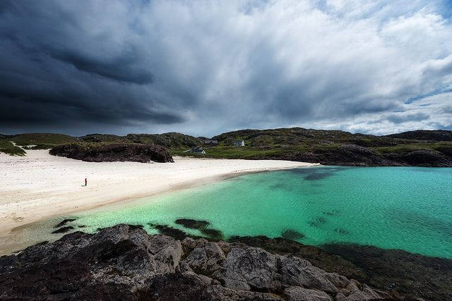 Clachtoll Beach. Lochinver Dark Clouds Over Clachtoll Beach by Philipp Klinger Photography on Flickr