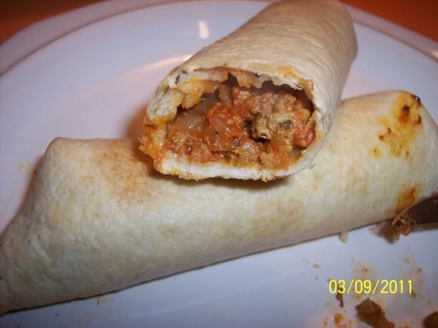 """Ww Skinny Chimichangas from Food.com:   This is out of my Weight Watchers cookbook called """"Take-Out Tonight!"""" This is an excellent low fat chimchangas recipe. It is baked, instead of deep-fried. The burrito comes out crispy with a moist and flavorful filling. This has 4 points per serving. You can top these chimichangas with your favorite salsa and, for an extra 1 point per serving, 2 tablespoons fat-free sour cream."""
