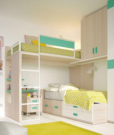 68737e3f876 Muebles para una fiesta de pijamas. Literas de la colección Ringo de Kibuc.  | Decoración hogar en 2019 | Bunk beds, Furniture y Home Decor