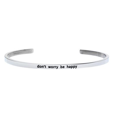 'Don't worry be happy' #LilyAnneDesigns #bracelet #inspiration #Silver