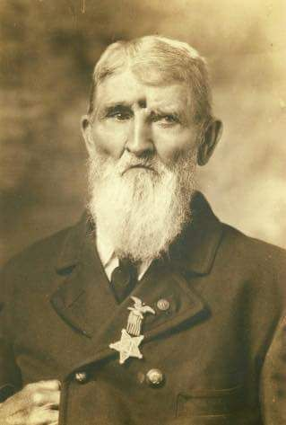 Civil War Veteran Jacob Miller survived a bullet to the forehead at the battle of Chickamauga. Photo taken circa 1899