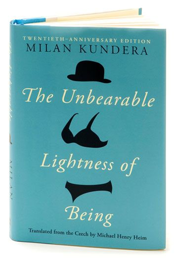 "Milan Kundera, ""The Unbearable Lightness of Being"". Designed by Roberto de Vicq."