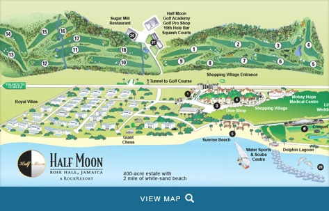 X marks the spot Property map of Half Moon A Rock Resort www