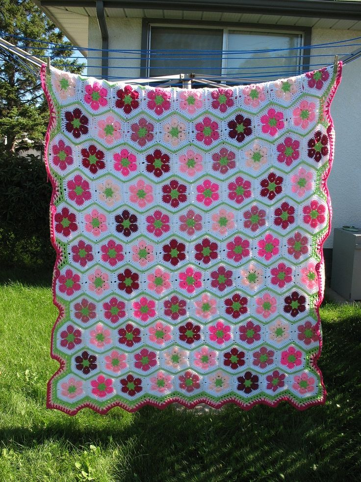 Одеяло из шестиугольников
