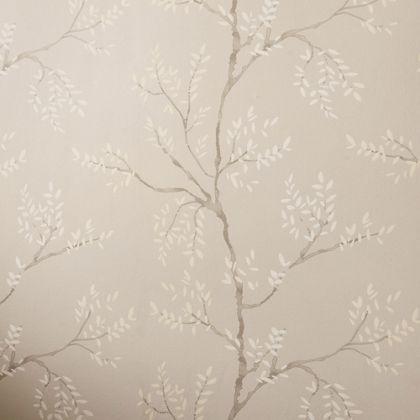 Laura Ashley Elwood Wallpaper - Dove Grey homebase