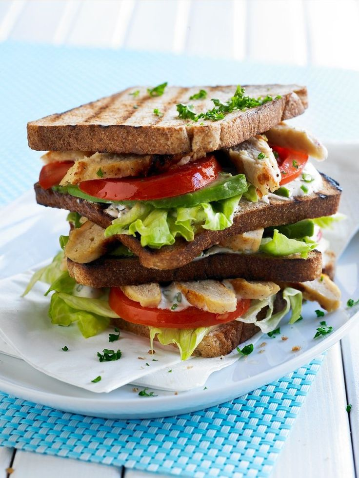 Make a tasty New York-style club sandwich, using Quorn's Meat Free Chicken Fillets and a creamy yoghurt dressing. http://www.quorn.co.uk/recipes/new-york-club-sandwich/