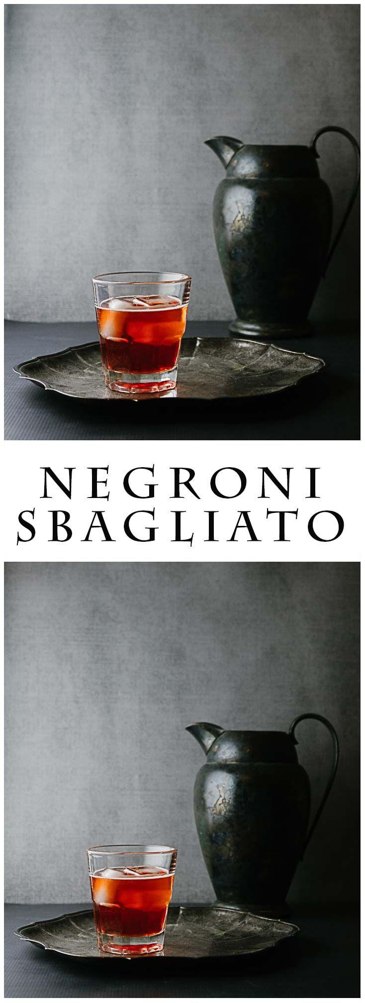 Negroni Sbagliato - Campari, Sweet Vermouth and Sparkling Wine!!  #cocktails #negroni #campari