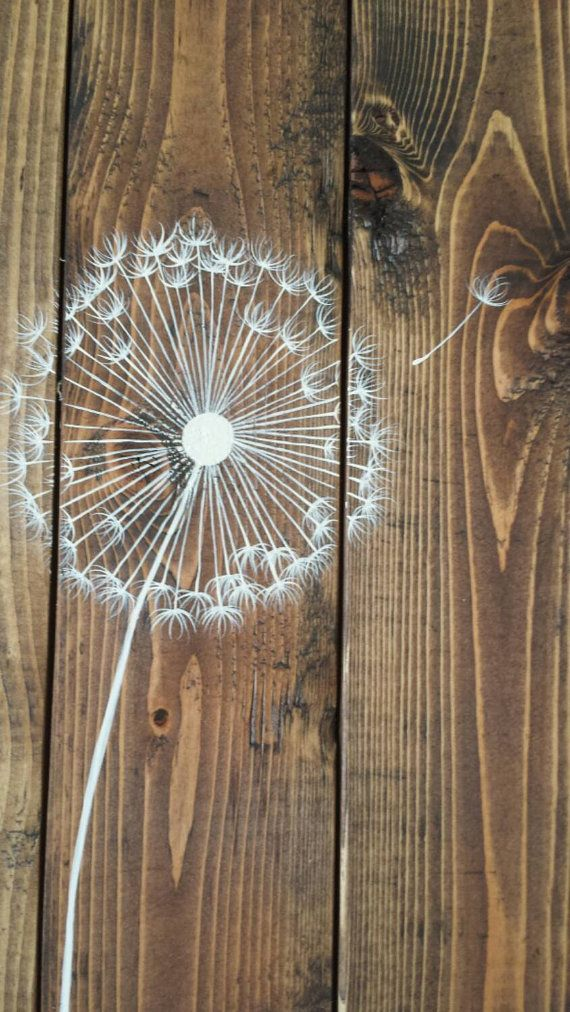 Wood Wall Art – Life is a balance of holding on – Pallet Wall Art – Planked Wood Sign – Dandelion wood sign – Dandelion art
