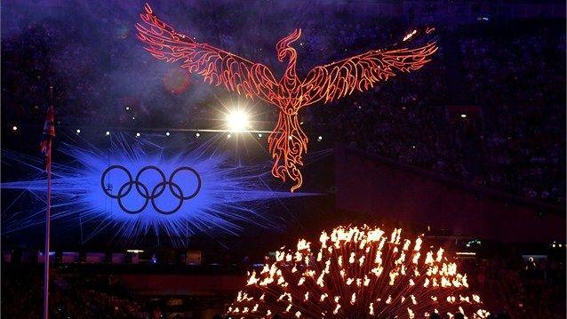 Une explosion de lumières au stade olympique - cérémonie de clôture JO 2012
