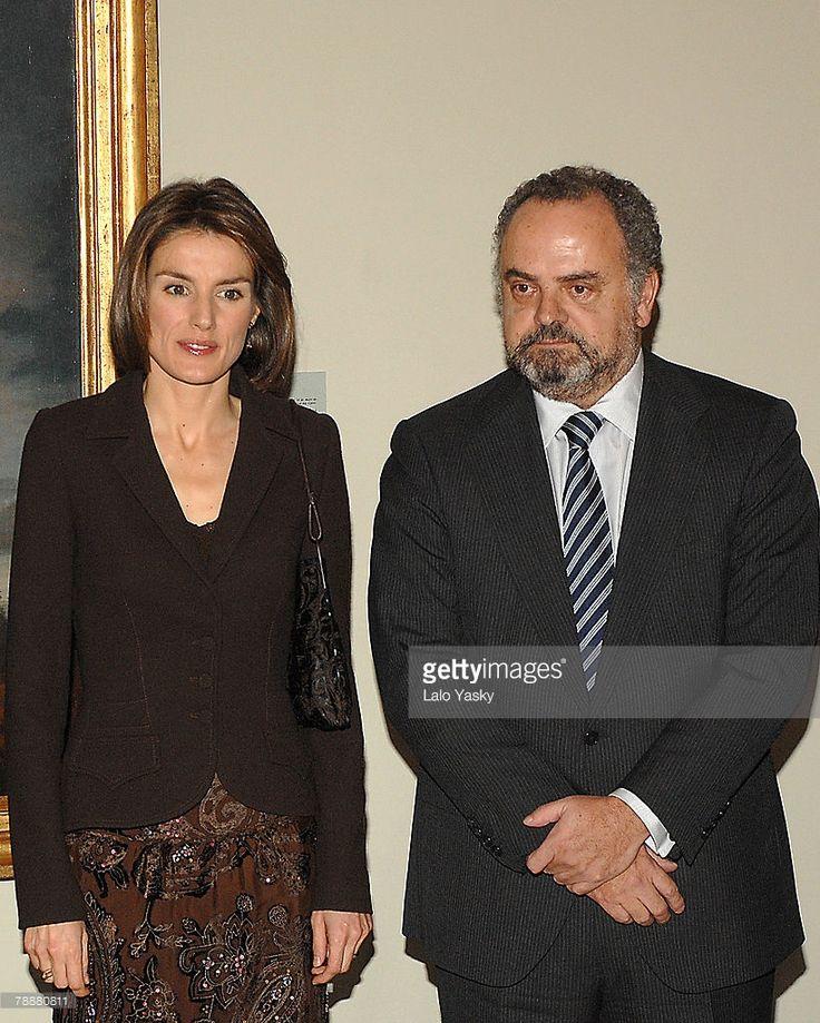 Princess Letizia of Spain and Ignacio Polanco Moreno attend the 'Antonio Sancha' editors award at Real Academia de Bellas Artes de San Fernando on January 9, 2007 in Madrid, Spain.