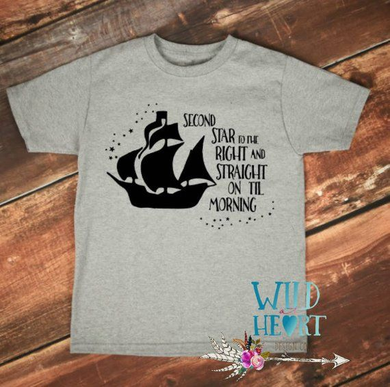 0423956c2d23d Second Star to the Right, Peter Pan Shirt, Pirates, Captain Hook ...