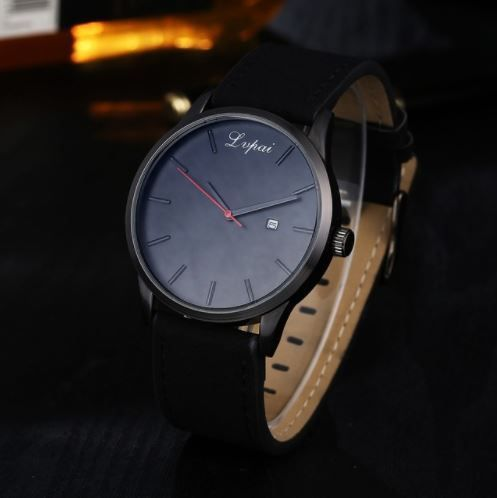Lvpai Watch with Leather Strap | The Urban Upgrade | minimalist #watches | simple watches | watches with the date | minimalism watches | big large face watches | leather watches | best watches | 2017 watches | 2018 watches | cheap watches | affordable watches | the best watches for under $30 $40 $50 $100 | watches with free shipping | men's fashion | women's fashion | men's watches | women's watches | big watches | watches for men | watches for women | black on black watches | leather