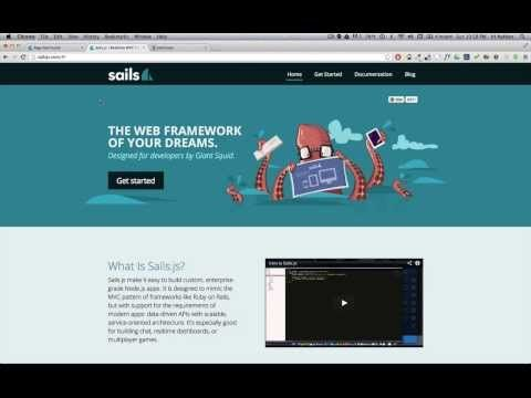 Creating a web application from scratch using sails.js (playlist)