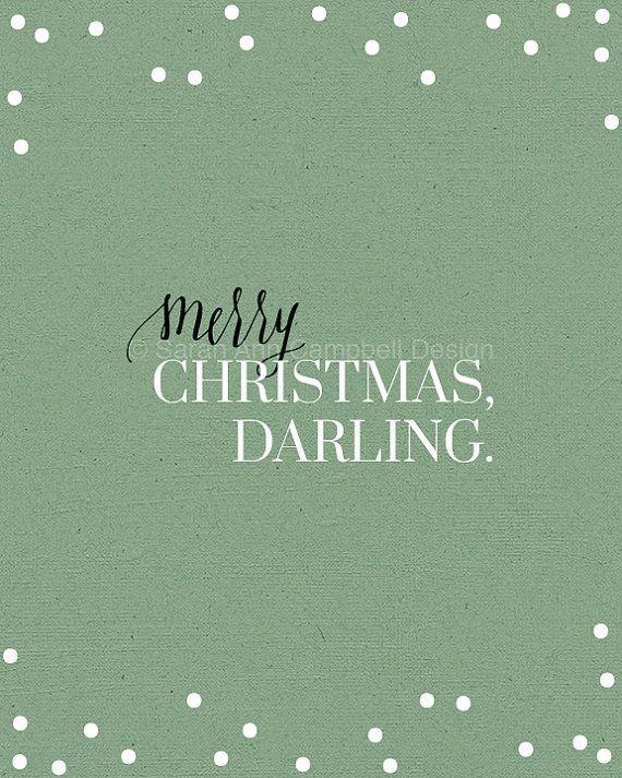 Merry Christmas Darling Print: Merry by SarahACampbellDesign