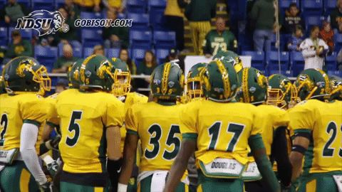 New Picture GIF dancing football bison ndsu north dakota...